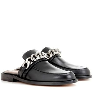 SOLD **Givenchy NWT chain black leather mules sz 7